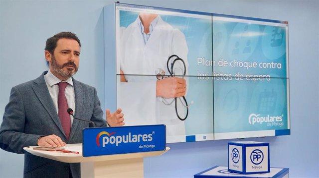 El coordinador general del PP de Málaga, José Ramón Carmona.