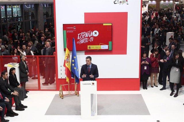 Fitur.- Sánchez señala que el Gobierno trabaja ya con la OMT para poner en march