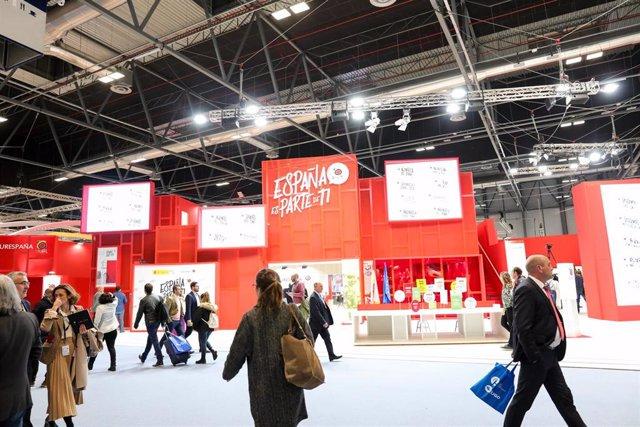 Entrada al pabellón de España en Ifema durante la inauguración de la Feria Internacional de Turismo de Madrid, FITUR 2020 (22-26 enero) en Madrid (España), a 22 de enero de 2020.