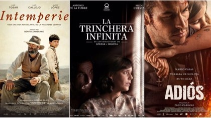 Goya.-'La Trinchera infita', 'Intemperie', y 'Adiós', cintas participadas por Canal Sur, suman 23 nominaciones