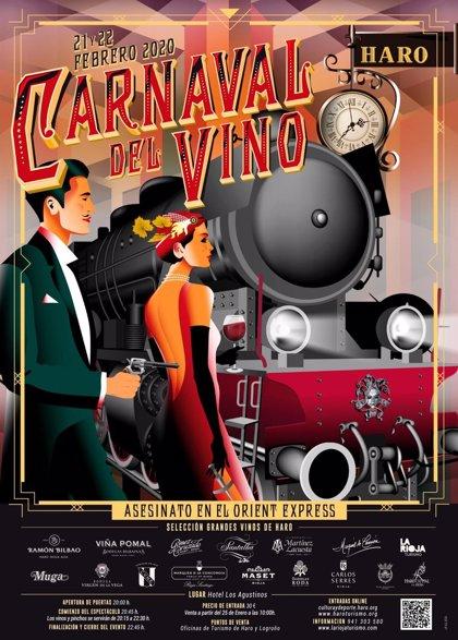 'Asesinato en el Orient Express', temática del 'Carnaval del Vino de Haro' que pondrá a la venta sus entradas mañana