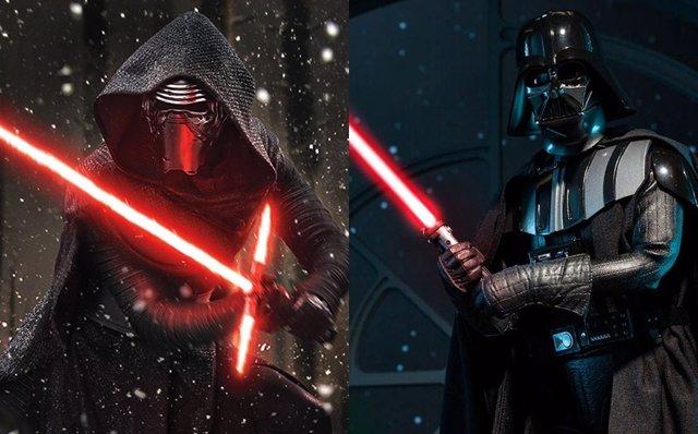 Kylo Ren y Darth Vader, los villanos de Star Wars