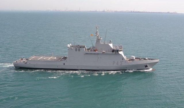 El buque 'Relámpago' de la Armada