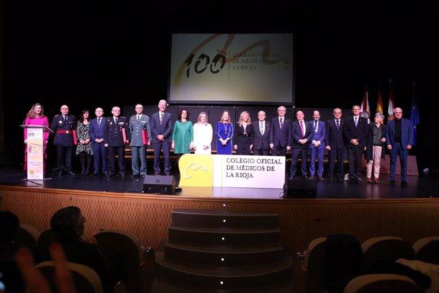 Gala del Centenario del Colegio Oficial de Médicos en Logroño