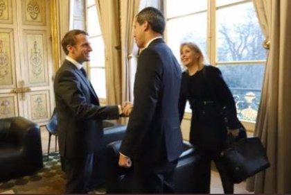 Macron recibe a Guaidó en el Palacio del Elíseo
