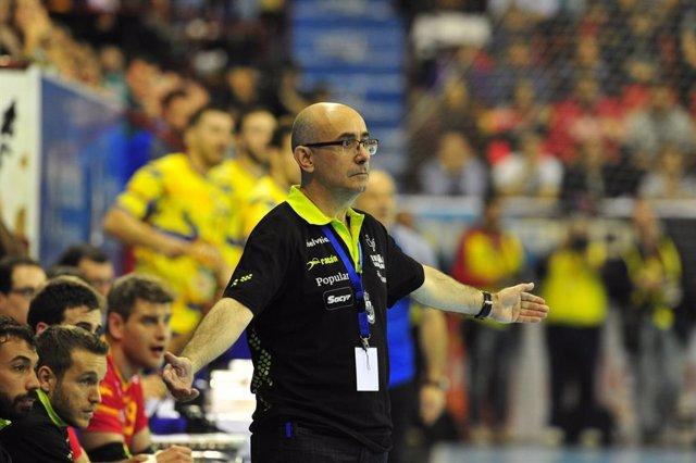 El seleccionador español de balonmano, Jordi Ribera