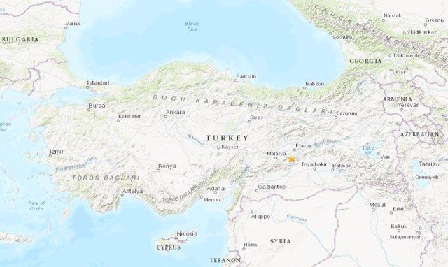 Terremoto en el este de Turquía.