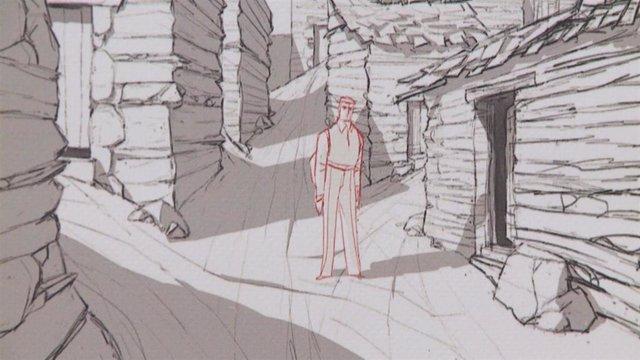 Imagen de la exposición de la película 'Buñuel en el laberinto de las tortugas' que tiene lugar en el Palacio de La Isla de Cáceres