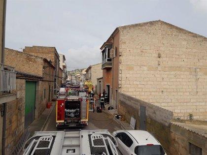Fallece un menor de cinco años en un incendio en una vivienda unifamiliar en Villafranca