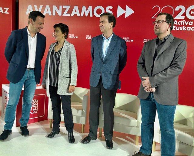 El secretario general del PSE-EE de Bizkaia, Mikel Torres en los Encuentros 2020 Activa Euskadi Topaketak