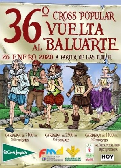 """Una asociación feminista califica de """"sexista"""" el cartel de la carrera popular 'Vuelta al Baluarte' de Badajoz"""