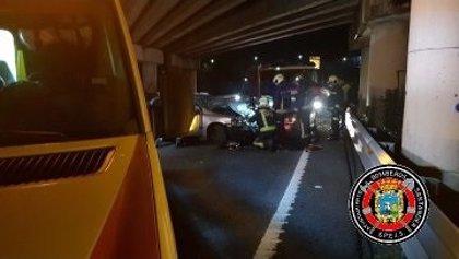 Evacuado a Valdecilla un joven de Bilbao tras un accidente en la S-10
