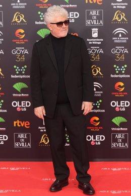 El director Pedro Almodóvar, posa en la alfombra roja de la XXXIV edición de los Premios Goya, en Málaga (Andalucía, España), a 25 de enero de 2020