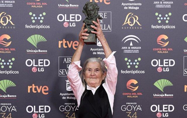 Benedicta Sánchez en los Goya 2020