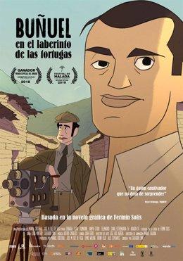Cartel de 'Buñuel en el laberinto de las tortugas' de Feciso