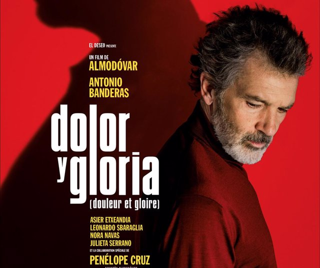 May 18, 2019 - Cannes, France. Poster of the movie. Photocall for movie Dolor y Gloria (Pain and Glory) directed by Pedro Almodovar. 72nd Cannes Film Festival. (Piero Oliosi/Contacto)
