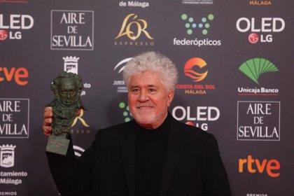 """Pedro Almodóvar, triunfador en los Goya 2020: """"A veces es más complicado ganar un premio aquí que en Hollywood"""""""