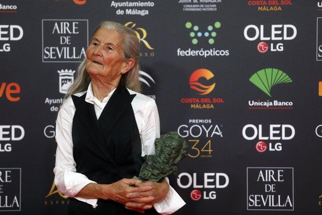Benedicta Sánchez, mejor actriz revelación durante la XXXIV edición de los Premios Goya