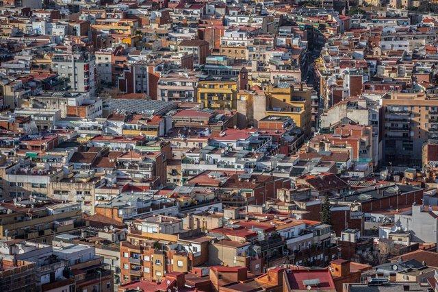 Vista d'edificis de Barcelona
