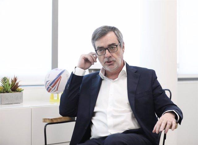 El secretari general en funcions de Ciutadans, José Manuel Villegas en una intervenció  a una entrevista d'Europa Press, a la seu de Ciutadans, Madrid (España), 22 de gener del 2020.