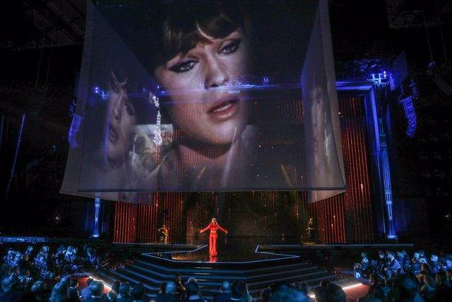 La cantante Amaia durante la gala de la XXXIV edición de los Premios Goya, en Málaga (Andalucía, España), a 25 de enero de 2020.