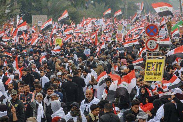 Manifestació a l'Iraq