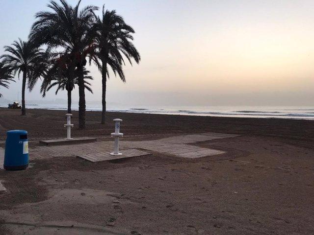 Playa de El Postiguet en Alicante