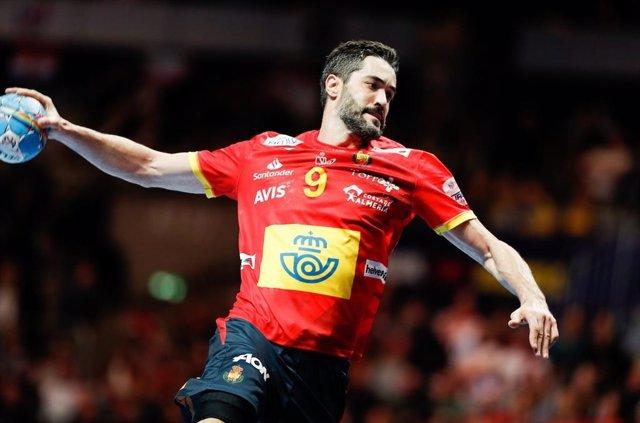 El capità de la selecció espanyola d'handbol, Raúl Entrerríos