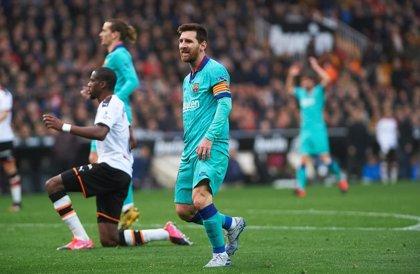 Messi mantiene su ventaja al frente del Pichichi pese a no marcar en Mestalla