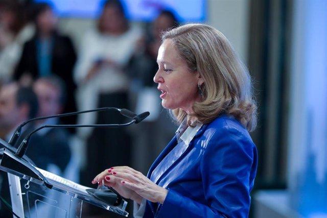 La vicepresidenta de Economía y Transformación Digital, Nadia Calviño
