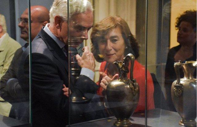 Visitantes en una exposición del Museo de Reproducciones Artísticas de Bilbao