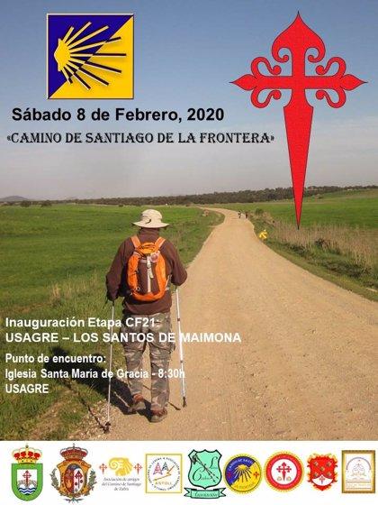 La etapa del Camino Jacobeo de la Frontera que une Usagre y los Santos de Maimona se inaugura el 8 de febrero