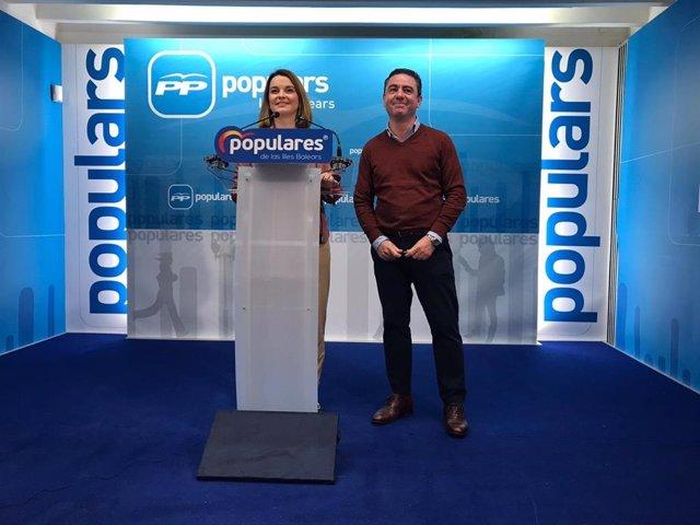 Los diputados 'populares' en la Cámara baja por Baleares, Margalida Prohens y Miguesl Jérez, en rueda de prensa