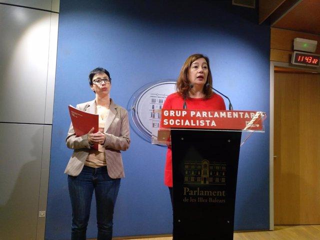(I-D) Las  Dirigentes Socialistas Sílvia Cano Y Francina Armengol.