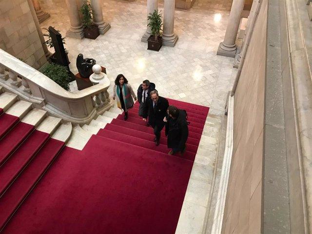 El presidente de la Generalitat, Quim Torra, este lunes en el Parlament