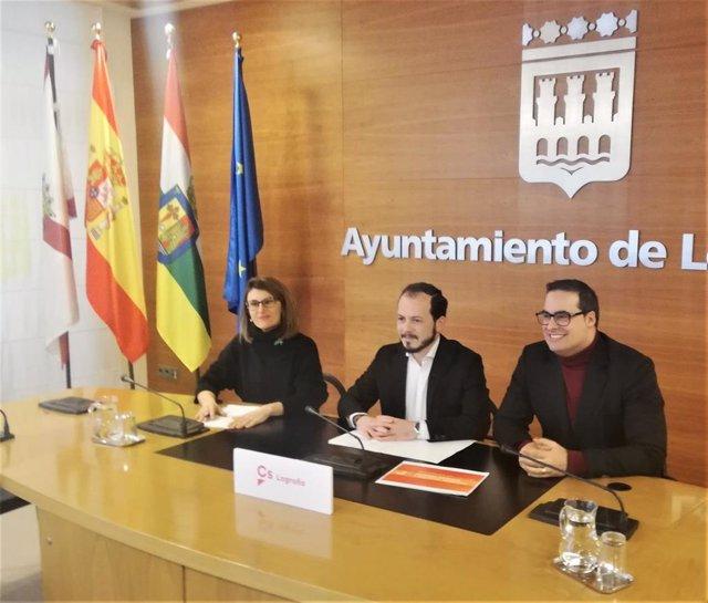 Ciudadanos ha planteado 10 enmiendas al Presupuesto regional 2020 relacionadas con proyectos para Logroño, que tienen un importe de 13,5 millones de euros.
