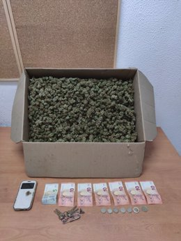 Caja con marihuana intervenida en El Puerto