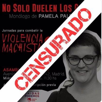 La Asamblea no permite a Unidas Podemos usar una de sus salas para celebrar una obra teatral sobre violencia de género