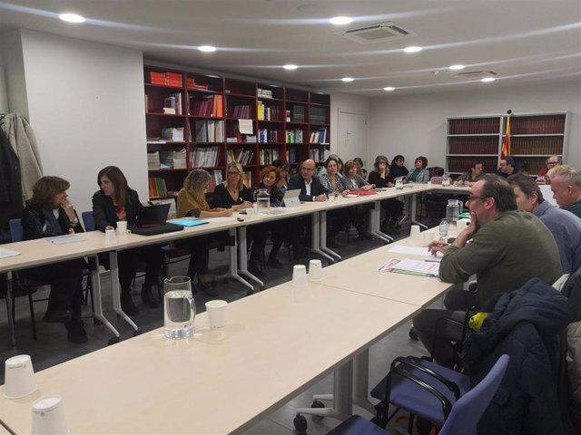Reunión de la Mesa General de la Función Pública de la Generalitat el 27 de enero de 2020.