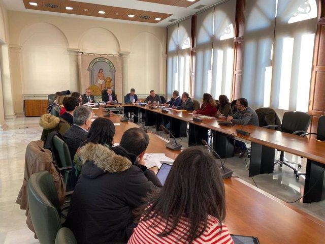 Imagen de la primera reunión de las comisiones de trabajo acordadas en el seno del 'Foro Provincial de la Inmigración'