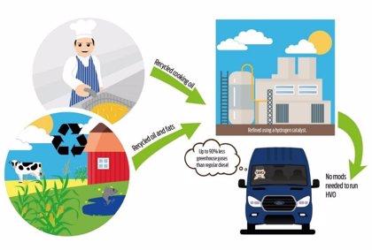 Ford aprueba el uso de un diésel producido a base de aceite de cocina en el Transit