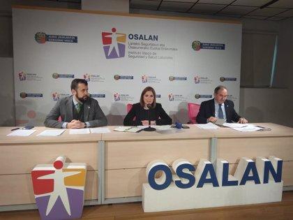 Euskadi contabilizó 30 accidentes de trabajo mortales en 2019, siete menos que en 2018