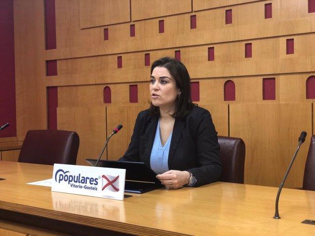 La portavoz del PP en Vitoria, Leticia Comerón.