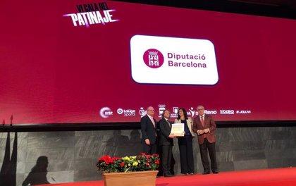 La Diputación de Barcelona recibe una placa de oro por la organización de los World Roller Games