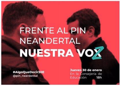 """Estudiantes convocan concentraciones este jueves en Madrid, Andalucía y Murcia contra el """"Pin Neandertal"""" de Vox"""
