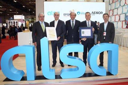 Alsa renueva su sello de Excelencia Europea EFQM 500+