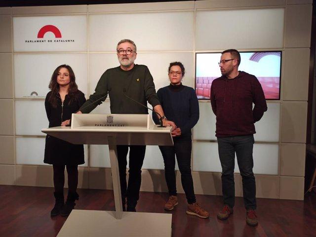 Maria Sirvent, Carles Riera, Natàlia Sànchez y Vidal Aragonés (CUP)