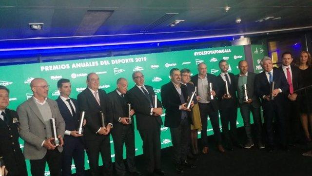 Premiados en la Gala de la Asociación de la Prensa Deportiva de Madrid