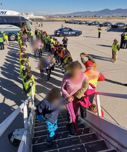 "México retorna a 240 hondureños vía aérea e identifica 20 ""probables"" redes de tráfico de personas"