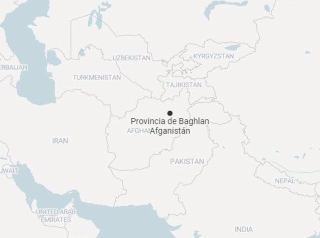 Mapa de la provincia de Baghlan, en el norte de Afganistán, donde ha tenido lugar el ataque